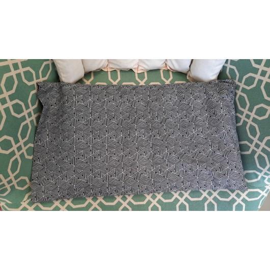 nahřívací bederní polštářek 45 x 25cm černobílá geometrie