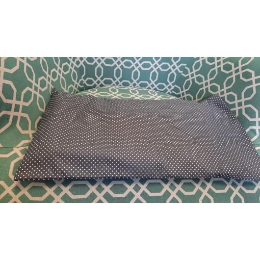 nahřívací bederní polštářek 45 x 25cm šedý s puntíky
