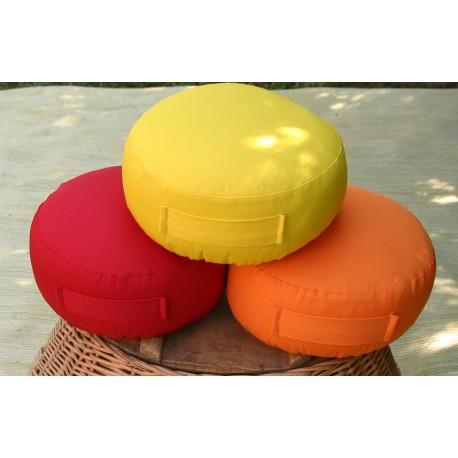 pohankový sedák - meditační polštář červený průměr 30cm